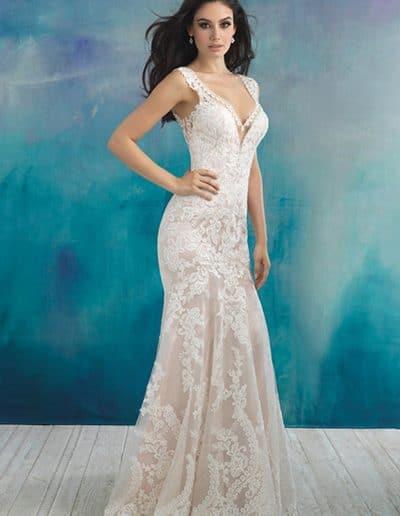 allure wedding dress 9513