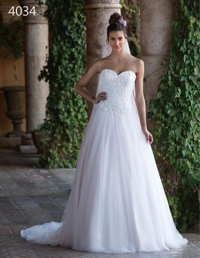 sweetheart wedding dress 4034