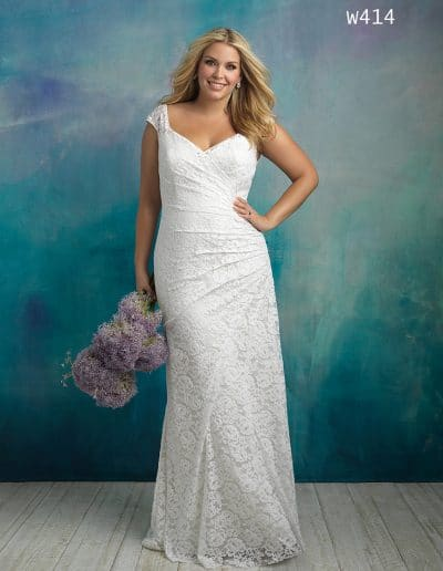allure bridal wedding dress W414