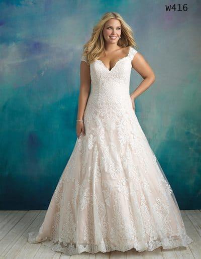 allure bridal wedding dress W416