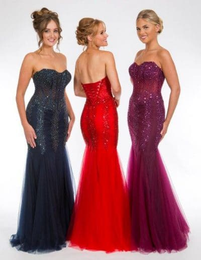 Red, Blue, Purple Prom or Bridesmaid Dress