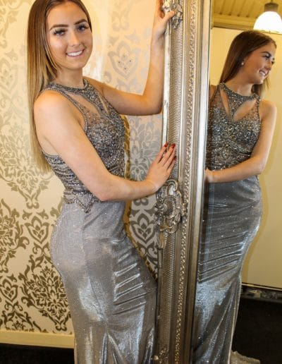 Silver Prom or Bridesmaid Dress