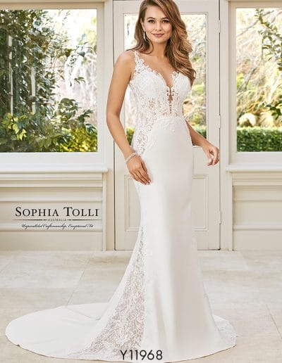 sophia tolli wedding dress Y11968