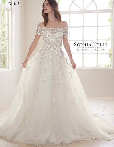 sophia tolli wedding dress Y21818A