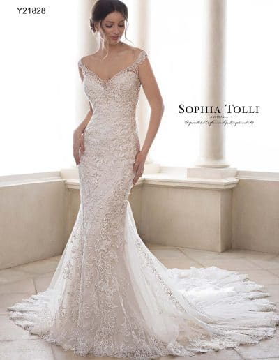 sophia tolli wedding dress Y21828A